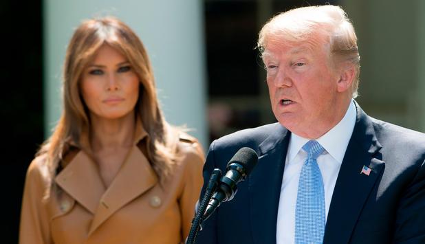 Präsident gibt Rätsel auf War der Eingriff bei Melania Trump doch größer?