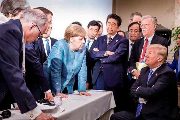 Nach G7-Eklat: Kanzlerin Merkel bekräftigt Gegenwehr im Handelskrieg
