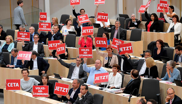 Handelsabkommen - CETA im Nationalrat ratifiziert