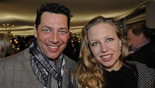 Nina Proll with charming, Husband Gregor Bloéb