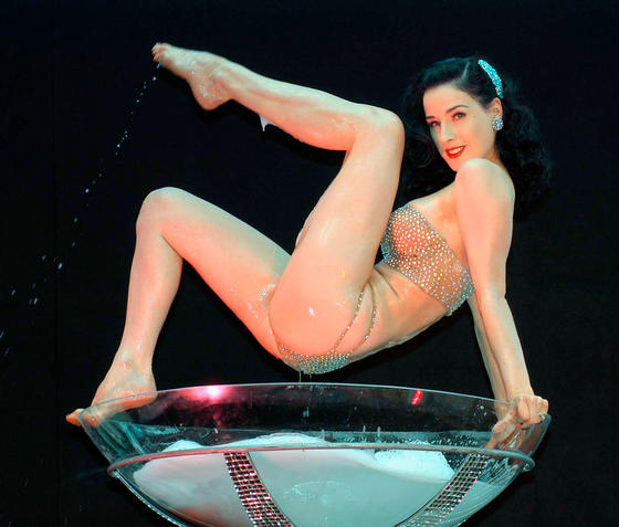 Dita Von Teese Performs At The Launch Of Dublin's Harvey Nichols Store