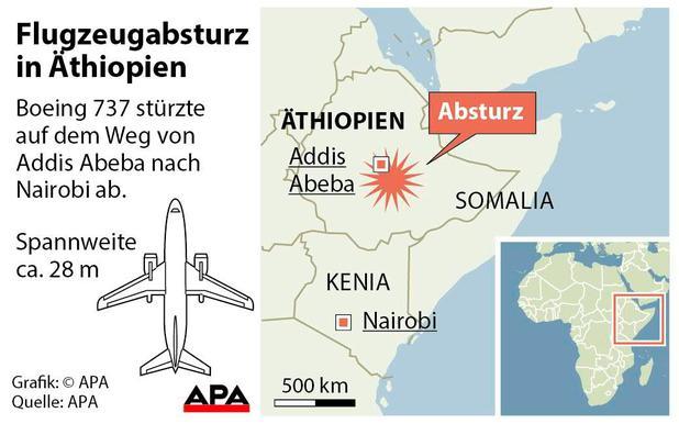 Ethiopian Airlines: 157 Tote bei Flugzeugabsturz in Äthiopien