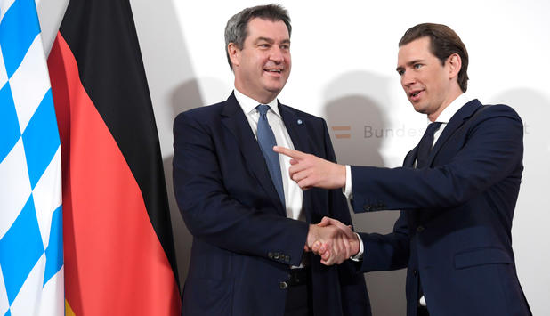 POLITIK/ROUNDUP: Söder und Kurz warnen vor Spaltung Europas