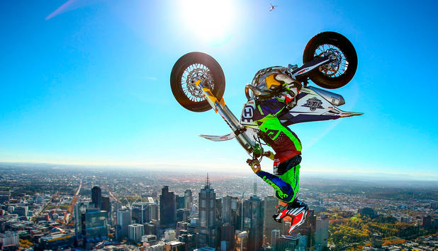 World's Highest Motorbike Backflip