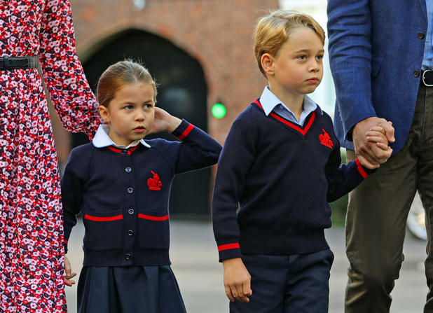 Princess Charlotte of Cambridge and Prince George of Cambridge