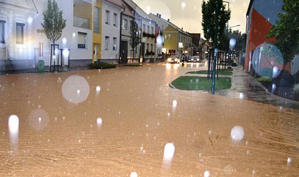 Strasen Und Keller Unter Wasser Auch Mittelburgenland Vom Unwetterchaos Betroffen