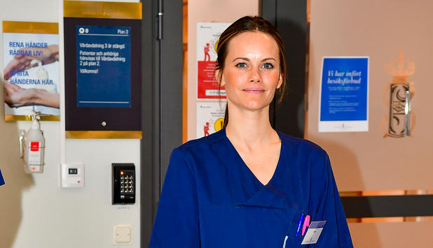 Schwedische Prinzessin Sofia hilft im Krankenhaus aus