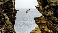 Cliff Diving - In Irland von der Klippe