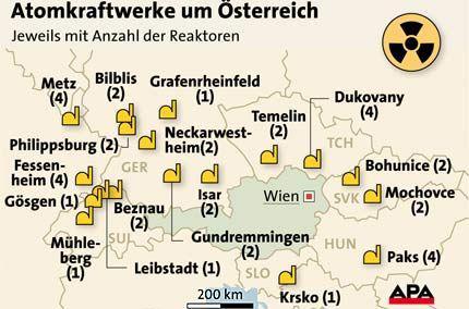 Atomkraftwerke Deutschland Karte.Gefährdete Kraftwerke Rund Um österreich Störfälle Sind Bei