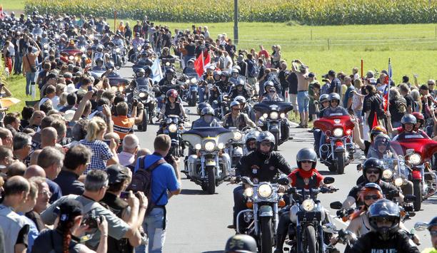 Teilnehmer am Harley Treffen am Faaker See