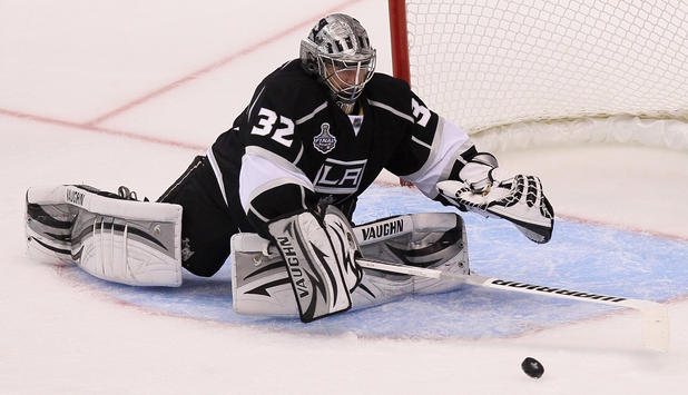 Jonathan Quick von den Los Angeles Kings im Stanley Cup Finale 2012