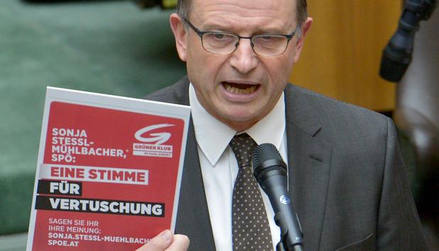 Karl Heinz Kopf im Nationalrat empört über Grüne - nationalrat-kopf-oevp-klubobmann-empoert-ueber-inserate