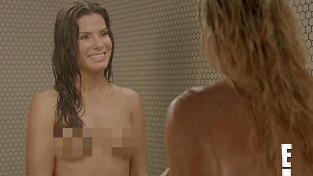 Sandra bullock amp chelsea handler naked shower
