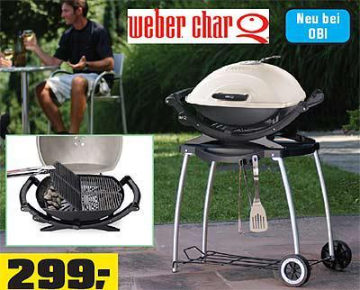 Weber Holzkohlegrill Bei Obi : Holzkohlegrill char q™ inkl rollwagen standard u news at