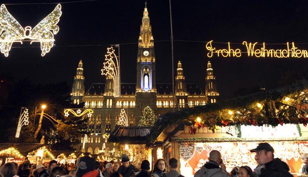 Weihnachtsmarkt Wien Eröffnung.Wiener Adventzauber Christkindlmarkt Eröffnet News At