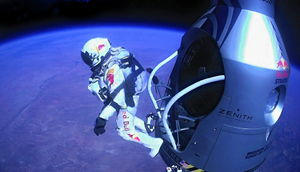 Red Bull Stratos, Felix Baumgartner Sprung