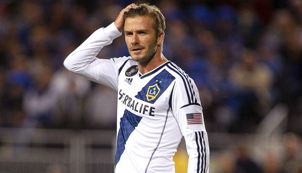 David Beckham im Dress von Los Angeles Galaxy