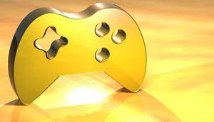 Abstraktes Gamepad in Gold