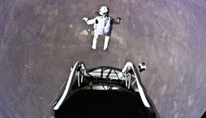 Felix Baumgartner bei der Mission Red Bull Stratos