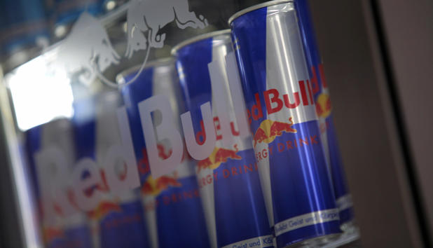 Picture of Red Bull drink cans taken on