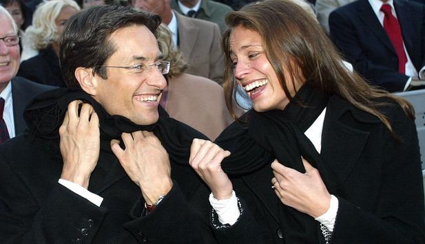 Former Austrian Finance Minister Karl-Heinz Grasser with her ex-fiance Natalia Corrales-Diez