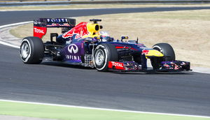 Sebastian Vettel im Training am Hungaroring 2013