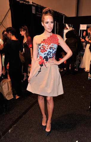 Louise Roe bei der NY Fashion Week
