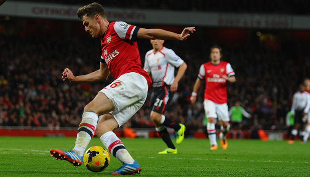Arsenal-Spieler Aaron Ramsey in Aktion.