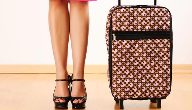 high heels im handgepäck