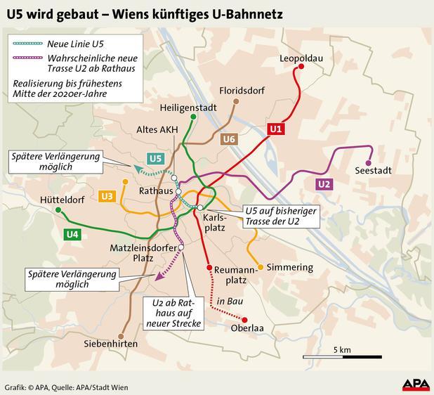 öffentlicher Verkehr Wien Baut U5 Newsat