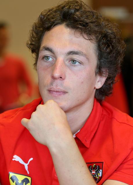 Julian Baumgartlinger beim Pressegespräch - baumgartlinger-soccer-uefa-euro-quali-mda-vs-aut-preview