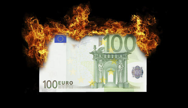 Euro in Brand