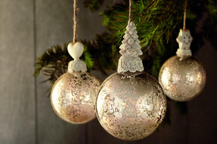 Bauernsilber Weihnachtsdeko.Tannenbaumanhänger Bauernsilber Optik News At