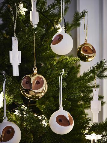 Weihnachtsdeko Ikea vintermys deko kugel eule at