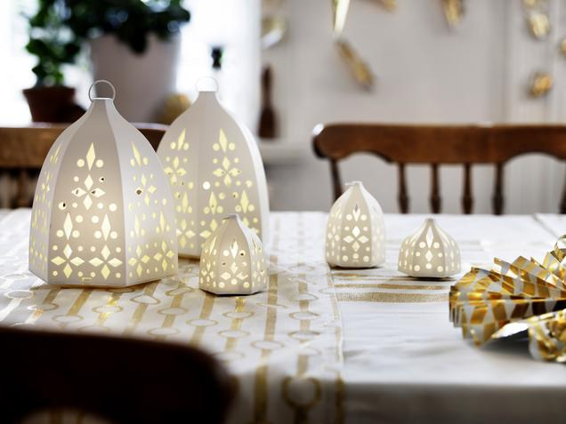 Ikea Weihnachtsdeko strala led laterne at