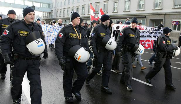 Pegida-Demo in Linz