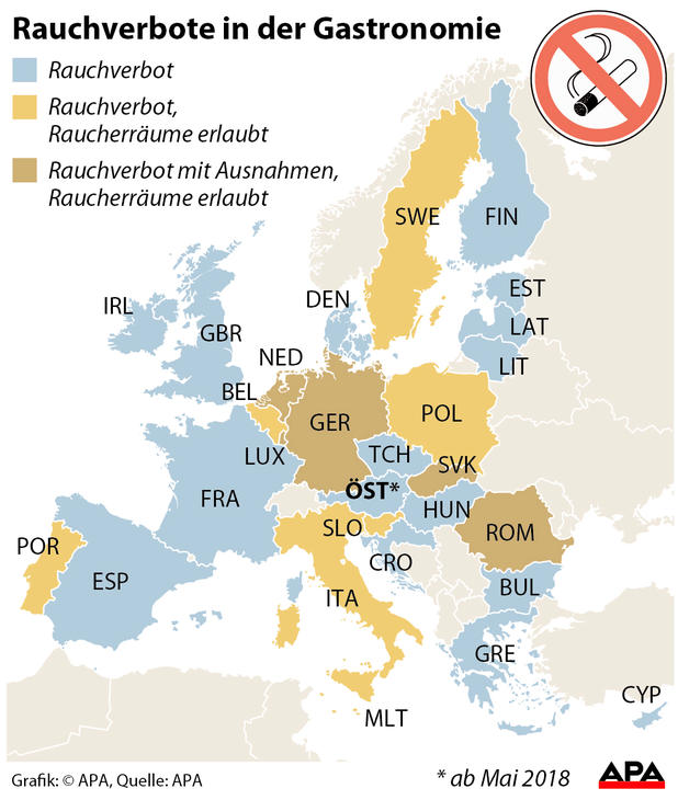 Rauchverbote in Europa