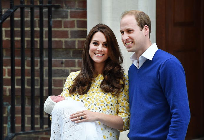 Kate und William mit Prinzessin Charlotte