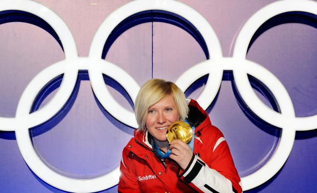 Andrea Fischbacher mit Olympiagold