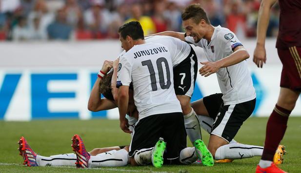 Fussball Em Quali Osterreich Bezwingt Russland Mit 1 0