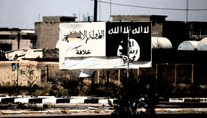 IS-Plakat im Irak