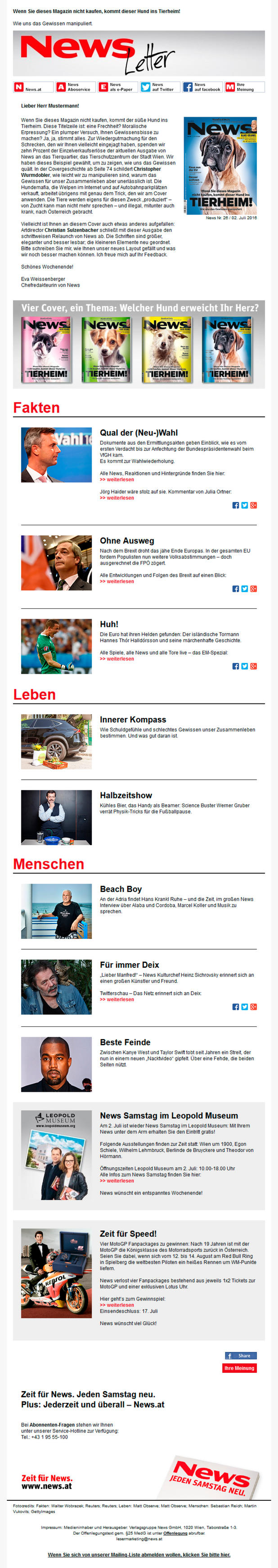 News Magazin Newsletter