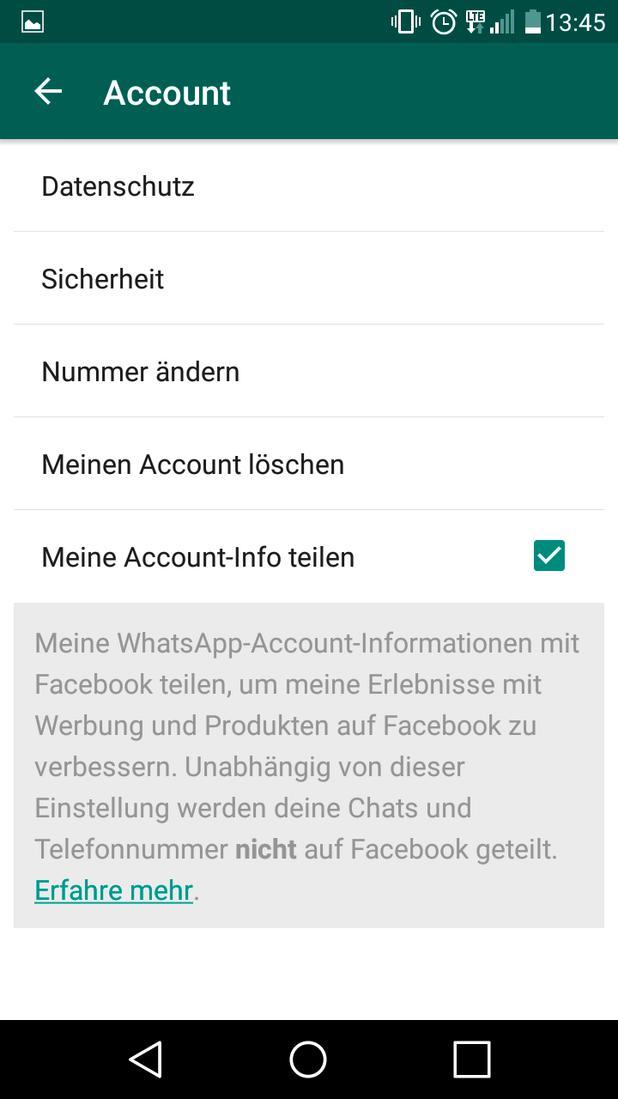 whatsapp widerrufen